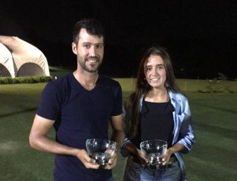 Triunfos de Pablo Nahmías y Jimena Marqués en la copa Elbio Barabino