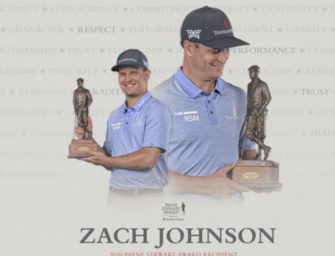 Zach Johnson distinguido con el Payne Stewart Award