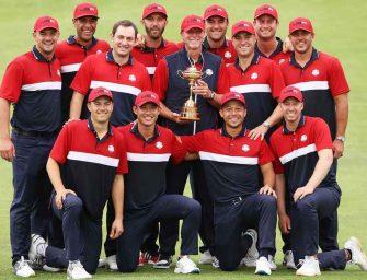 Contundente triunfo de EE.UU en la Ryder Cup